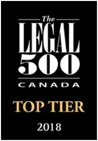 Badge for The Legal 500 Canada top law firms.