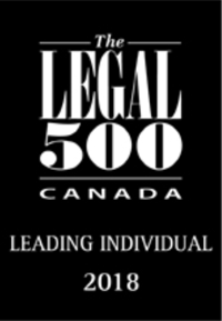 Legal 500 Leading Individual button with logo for lawyer Gordon Hearn.