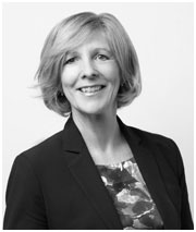 Profile headshot image of Toronto lawyer Carole McAfee Wallace in black and white.