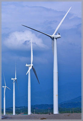 Image of four windmills to symbolize our involvement with energy law.
