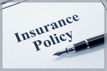 Image of pen with and Insurance policy in text to symbolize our involvement with insurance law.