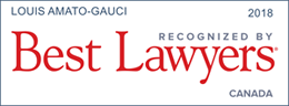 Best lawyers of 2018 button with logo presented to Toronto Lawyer Louis Amato Gauci.