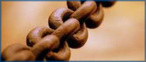 Image of rusty chain links to symbolize our law firm related links.