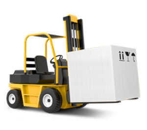 Image of a fork truck to symbolize our involvement with warehousing.