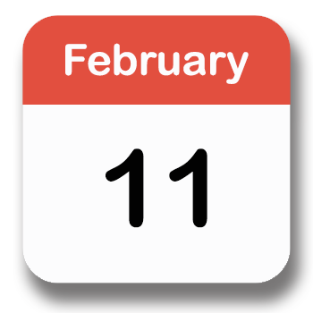 Custom special events icon showing month and date of event.
