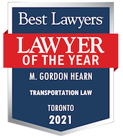 Best Lawyers 2021 banner for Gordon Hearn Toronto Lawyer.